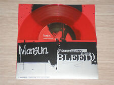 """MANSUN - SHE MAKES MY NOSE BLEED - 45 GIRI 7"""" RED VINYL LIMITED EDITION"""