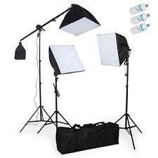 Fotostudio Set Lampen Studioleuchte 3 Fotolampe Stativ Softbox Galgenstativ