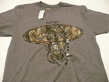 FORD V8 YOUNG MENS MEDIUM REALTREE AP CAMO AND GRAY SS T-SHIRT NEW WITHOUT TAGS