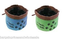 Animals Dog Cat Pets Drinking Feeding Water Travel Foldable Flexible Bowl Puppy