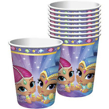 SHIMMER AND SHINE 9oz PAPER CUPS (8) ~ Birthday Party Supplies Beverage Drinking