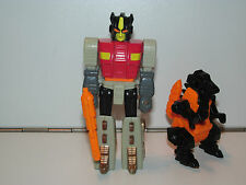 TRANSFORMERS G1 ACTION MASTERS SNARL & TYRANNITRON 100% COMPLETE 1990 HASBRO