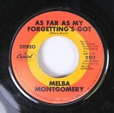 Soul 45 Melba Montgomery - You Let Me Win / As Far As My Forgetting'S Got On Cap