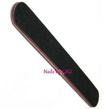 1 x PROFESSIONAL ACRYLIC OR GEL NATURAL NAIL FILE 100/180 Black Straight
