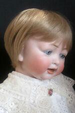 """perruque blond clair-tête29/30cm-poupée ancienne moderne-Doll wig sz 11.5/12"""""""