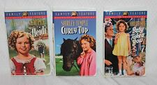Lot of 3 Shirley Temple VHS Videos in Color - Curly Top, Heidi, Baby Take a Bow