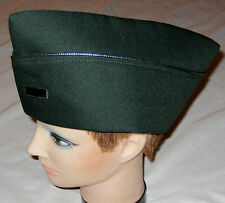 Green w Silvertone Beading Military Costume Hat