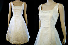 VTG 50s Sparkle Jacquard Scoop Neck Fit & Flare Bouffant Cocktail Party Dress S