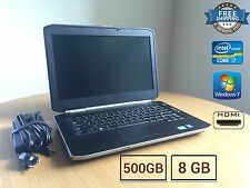 "Dell Latitude E5420 Intel Core i7 2.70GHz 8GB 500GB windows 7 Laptop HDMI 14"" HD"
