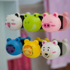 Cute Cartoon Toothbrush Holder Mount With Suction Grip Wall Rack