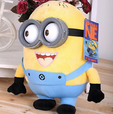 "Despicable Me Stuffed 7"" Minion 3D Double Eyes Jorge Stewart Dave Plush Toy Doll"