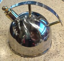 CHANTAL Teakettle #SL 37-16 Stainless Steel Brass Whistling 1.5 Qt Teapot