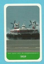 Hovercraft Cool Collector Card from Europe