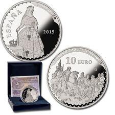 ESPAÑA 10 euro plata 2015 FEDERICO DE MADRAZO Tesoros Museos Españoles 8 reales