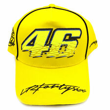 MOTO GP Valentino Rossi VALE VR 46 The Doctor Baseball Hat Peaked Cap Yellow