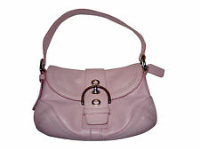 PINK COACH SHOULDER PURSE BAG LEATHER SOHO HOBO Handbag Silver Buckle F10909