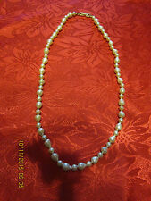 Faux Pearl Bead Necklace White Tear Drop Beads String Vintage