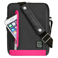 Magenta/Grey Tablet Shoulder Bag Case for iPad Pro 9.7 /Toshiba Excite AT10-C 10