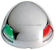 LED Bicolour Navigation Light Stainless Steel Case Red & Green 20m  NAVSEABIC
