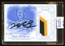2015 DYNASTY JUNG HO KANG #D 01/10 RC AUTO JUMBO PATCH LOGO 3 COLOR  RARE  HOT