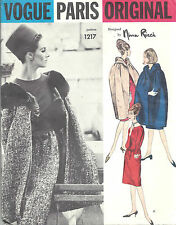 1963 Vintage VOGUE Sewing Pattern B34 CAPE & DRESS (1344) By NINA RICCI