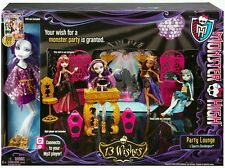 Monster high 13 souhaits party lounge playset et spectra vondergeist poupée Y7720