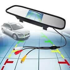"4.3"" TFT LCD Color Monitor Car Reverse Rear View Mirror for Backup Camera hot MT"