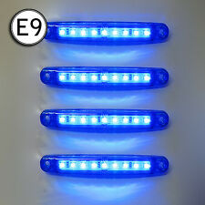4 X Led Side Marker Light Truck Lorry Chassis Trailer Waterproof 24v E-Marked