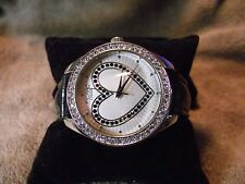 Figaro Woman's Silver and Crystal Face Watch O 213