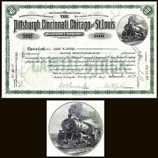 Pittsburgh Cincinnati Chicago and St Louis Rr Pa 1917 Stock Certificate