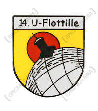 NEW Kriegsmarine 14th Flotilla U-Flotille U-BOAT PIN CAP BADGE - WW2 German Navy