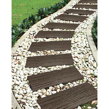 Patio Garden Path Recycled Rubber Wood Effect Railway Tie Sleeper Earth 4 Pack