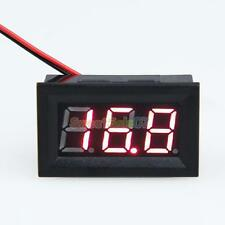 DC 3.2-30V Ammeter Red LED Amp Two-wire Volt Meter Gauge Digital Voltmeter N#S7
