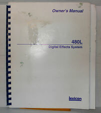 LEXICON 480L OWNER'S MANUAL ANGLAIS ORIGINAL
