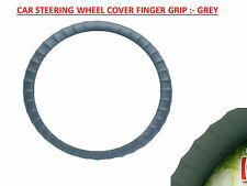 Car Grey Leatherette Grip Steering Wheel Cover :- SANTRO/XING, I10, I20, ACCENT
