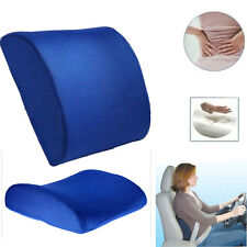Lumbar Cushion Back Support Waist Pillow Memory Foam Home Chair Car Auto Seat HT