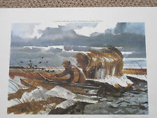 OUT OF REACH BY CHET RENESON DUCK HUNTING PRINT NUMBER 1 OF 500