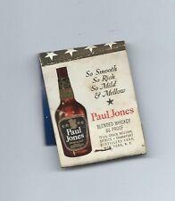 Matchbook Cover Paul Jones Blended Whiskey