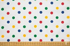 POLKA DOTS - Multi-Coloured Spots Poly cotton (Pudsey Bear / Children in Need)