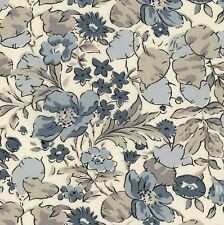LIBERTY OF LONDON Poppy & Honesty N Fabric XL FQ Floral GREY Shabby Chic FLOWERS