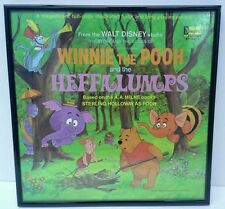 FRAMED Disney Disneyland Records WINNIE POOH & HEFFALUMPS album lp cover ST-3971
