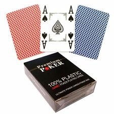 NEU - 12 X PREMIUM CASINO POKER KARTEN 100% PLASTIK -GROSSER INDEX - 4