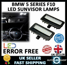 BMW 5 SERIES F10 LED SUN VISOR VANITY MIRROR LIGHT UPGRADE INTERIOR BULB LAMPS