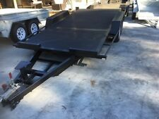 Car-Trailer-14x66-Full-Checker-CAR-CARRIER-Includes-Ramps