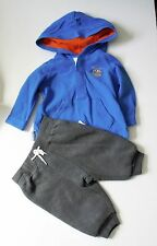 Ralph Lauren Baby Boys Hooded Long Sleeve Rugby & Pull On Pants Blue Sz 3M - NWT