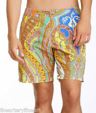 "MR TURK Men's Paisley Print Safari Swim / Bathing Trunks Board Shorts 32"" *NWT*"