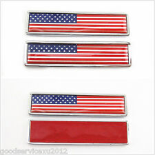 2 Pcs American National Flag Emblem Auto Side Fenders 3M Stickers For Mitsubishi