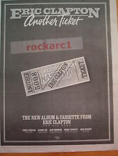 ERIC CLAPTON Another Ticket 1981 UK Poster size Press ADVERT 16x12""