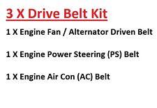 Se adapta a Nissan Patrol y60 4.2td-td42 Motor fan/alternator + ps+ac Disco cinturones 1988 +