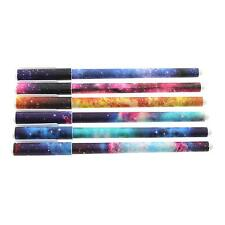 6Pcs 0.38mm Cute Starry Gel Pen Students Stationery Office Supply Watercolor Pen